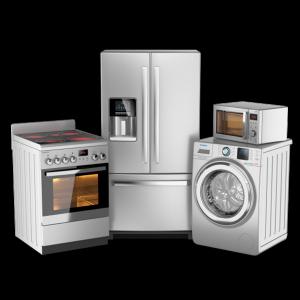 Микроволновые печи, холодильники, кухонные плиты, стиральные машины, чайники